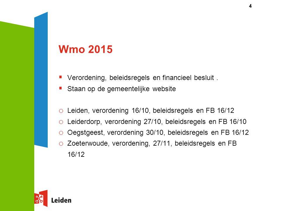Wmo 2015 Verordening, beleidsregels en financieel besluit .