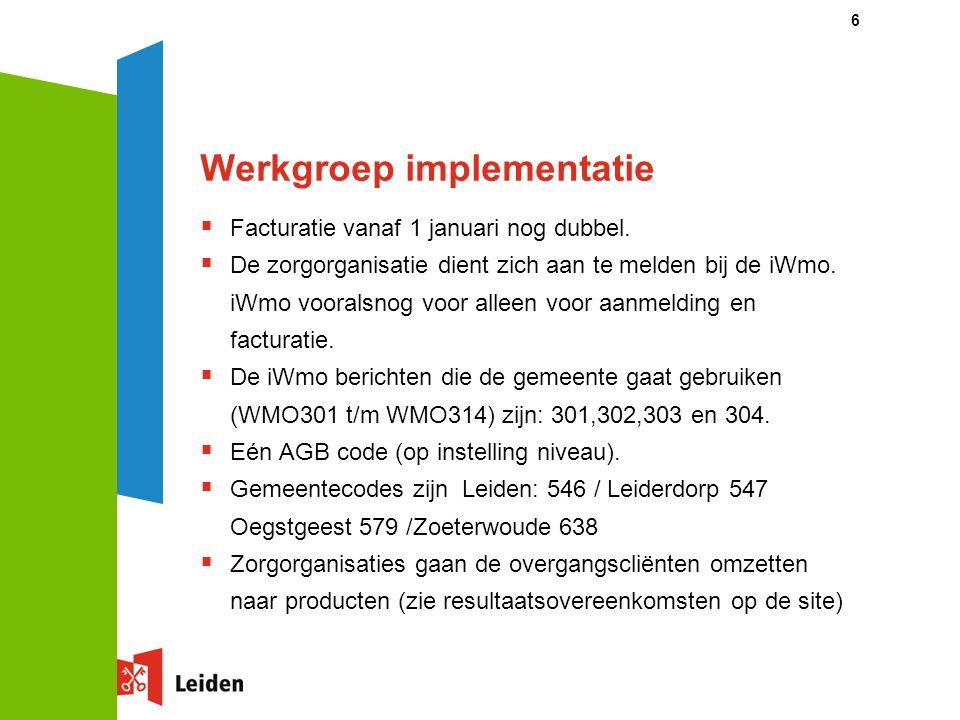 Werkgroep implementatie