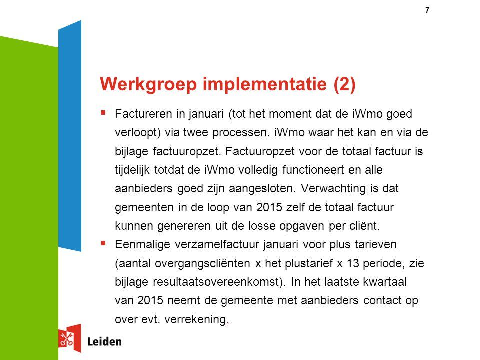 Werkgroep implementatie (2)
