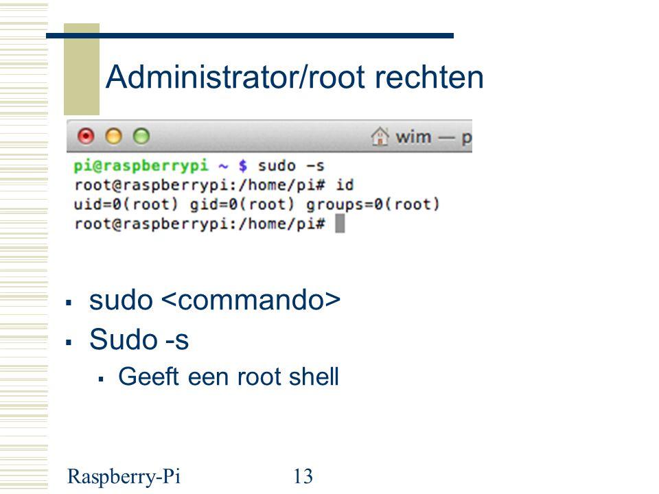 Administrator/root rechten