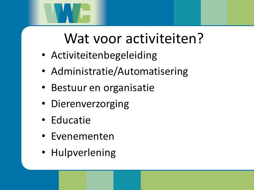 Wat voor activiteiten Activiteitenbegeleiding