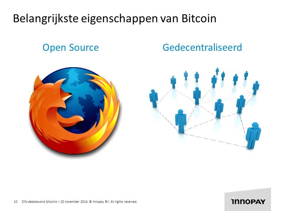 Belangrijkste eigenschappen van Bitcoin