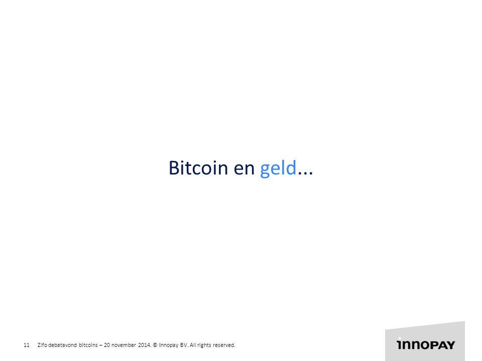 Bitcoin en geld...