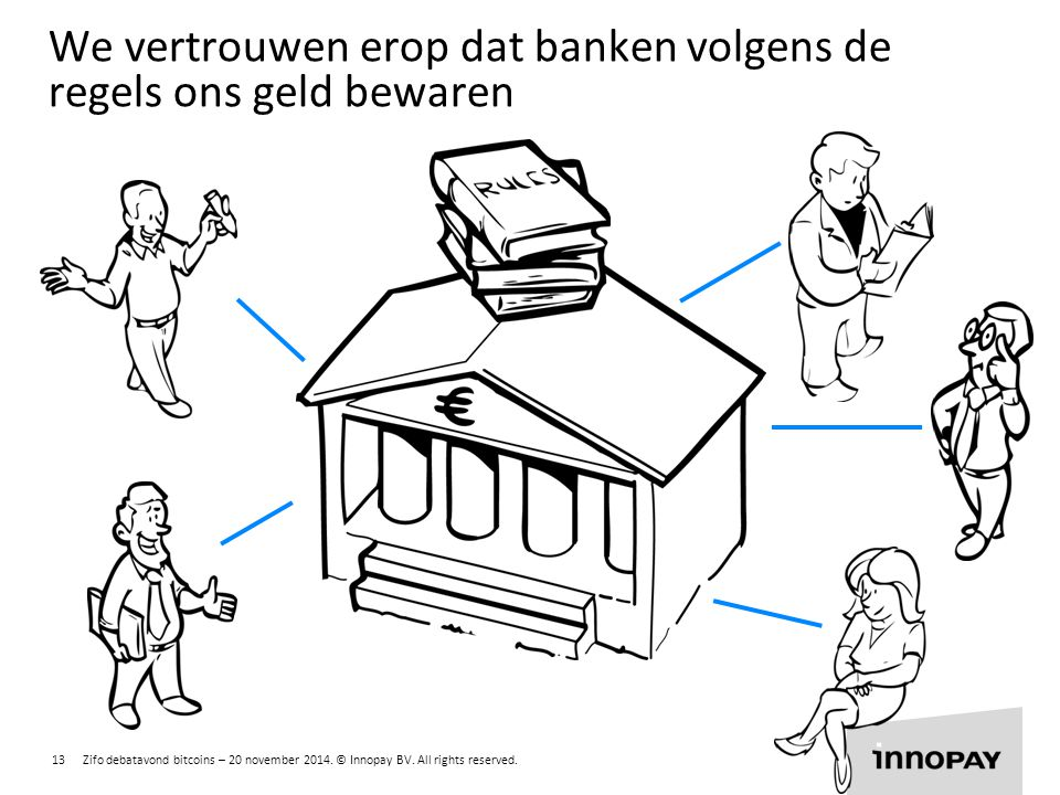 We vertrouwen erop dat banken volgens de regels ons geld bewaren