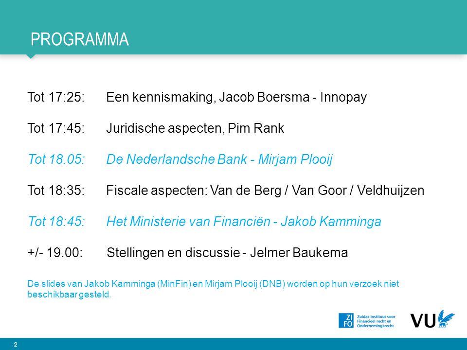 Programma Tot 17:25: Een kennismaking, Jacob Boersma - Innopay