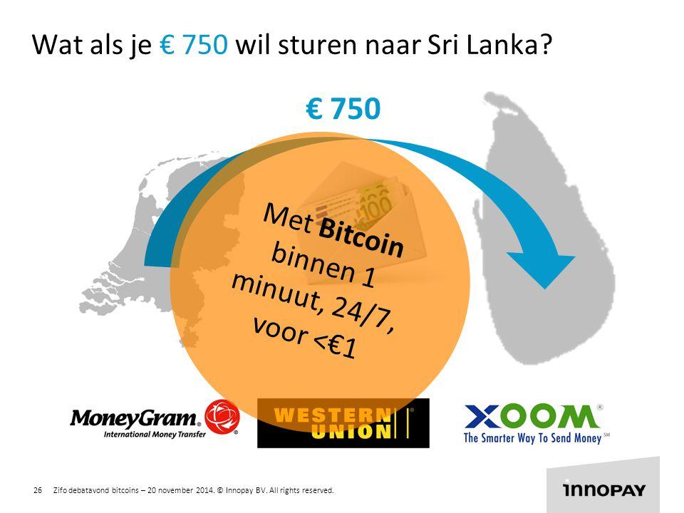 Wat als je € 750 wil sturen naar Sri Lanka