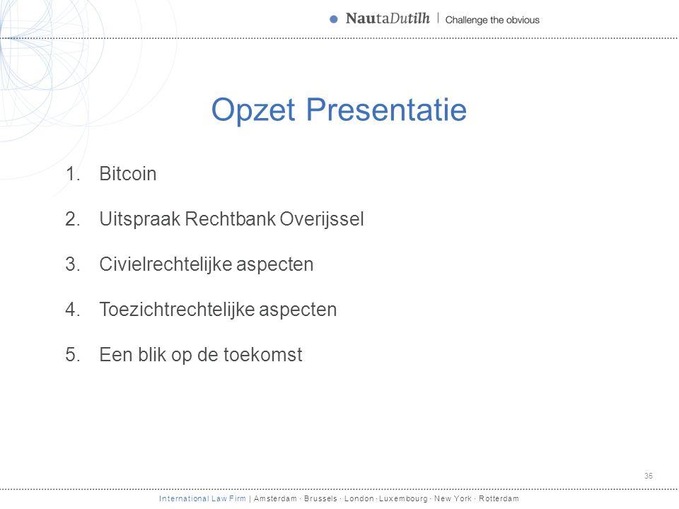 Opzet Presentatie Bitcoin Uitspraak Rechtbank Overijssel