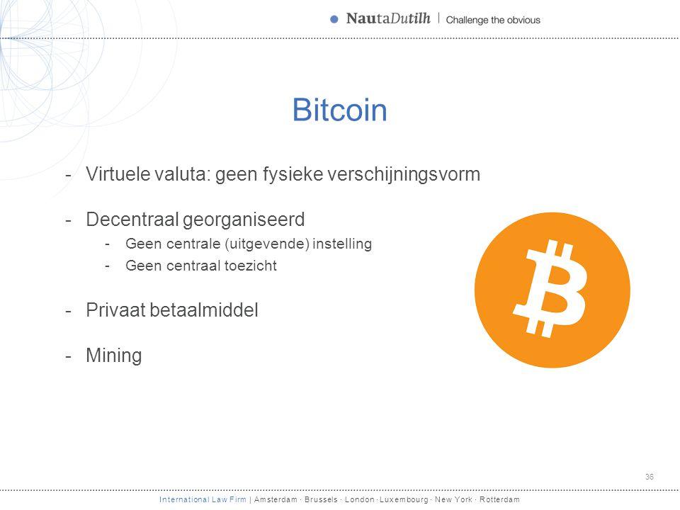 Bitcoin Virtuele valuta: geen fysieke verschijningsvorm
