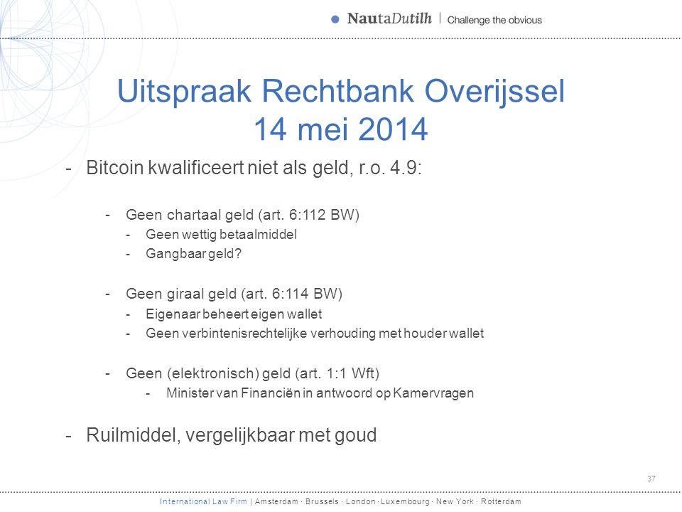 Uitspraak Rechtbank Overijssel 14 mei 2014