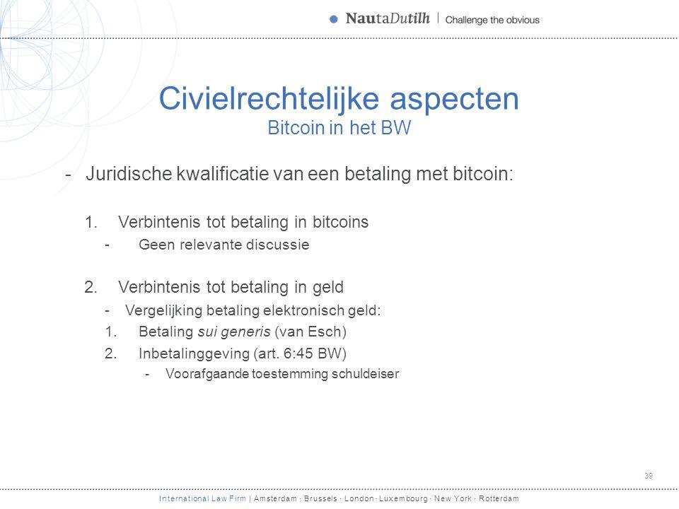 Civielrechtelijke aspecten Bitcoin in het BW