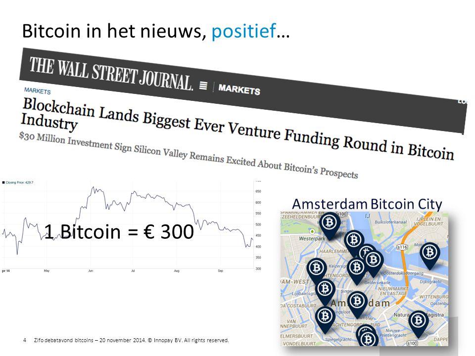 Bitcoin in het nieuws, positief…