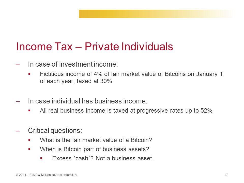 Income Tax – Private Individuals