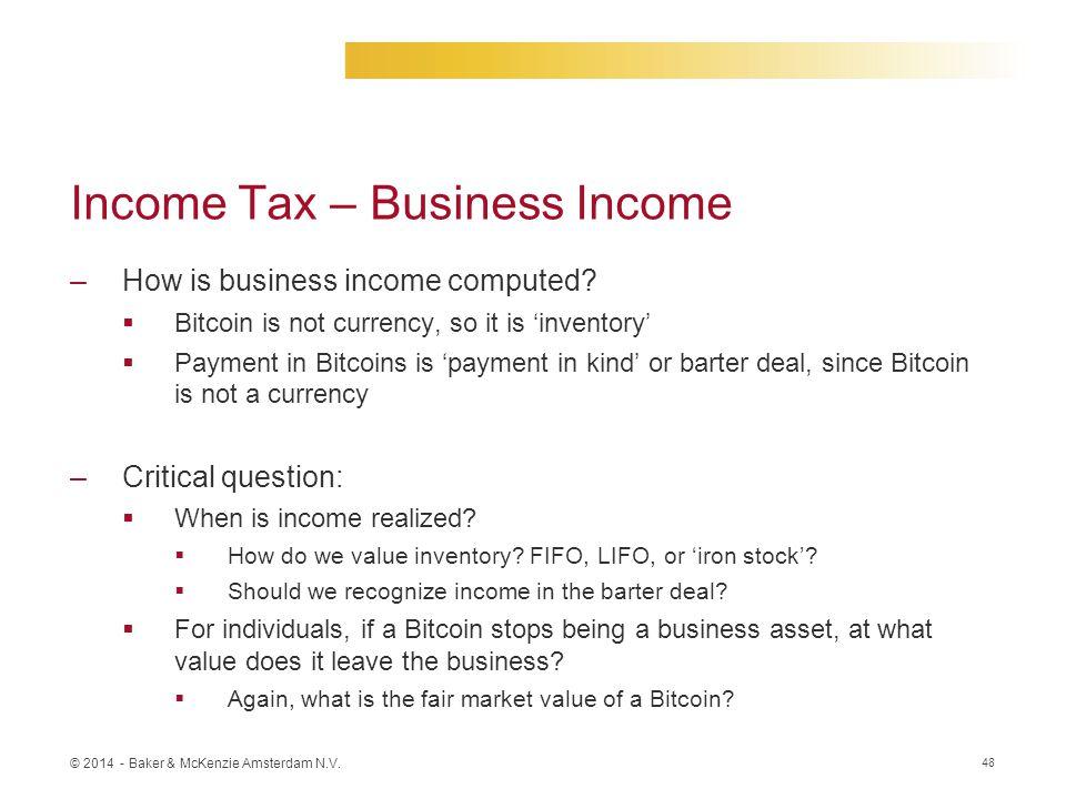 Income Tax – Business Income