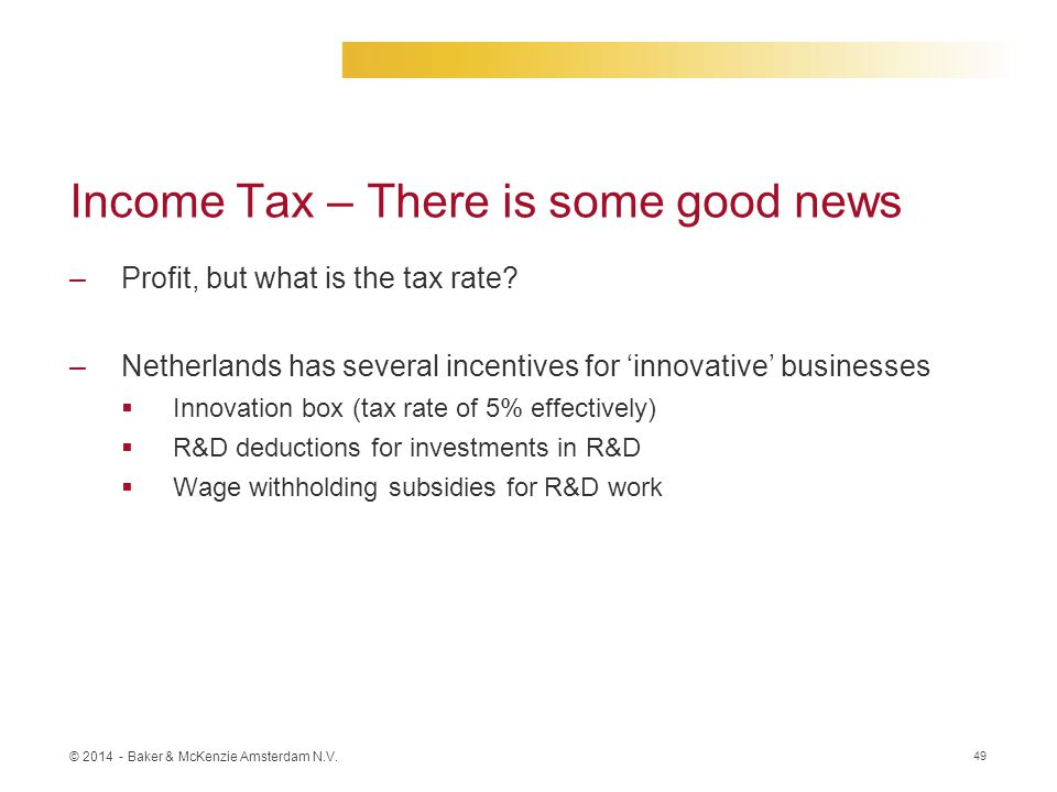 Income Tax – There is some good news