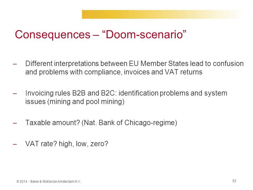 Consequences – Doom-scenario