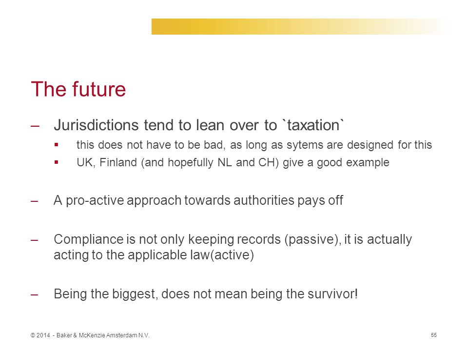 The future Jurisdictions tend to lean over to `taxation`