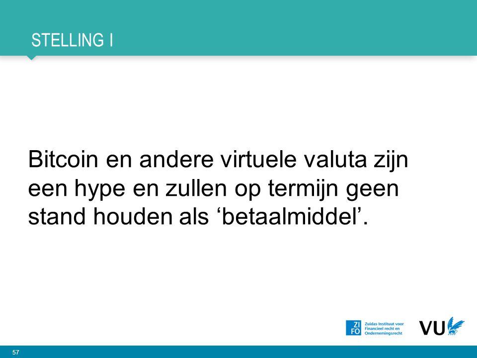 Stelling I Bitcoin en andere virtuele valuta zijn een hype en zullen op termijn geen stand houden als 'betaalmiddel'.