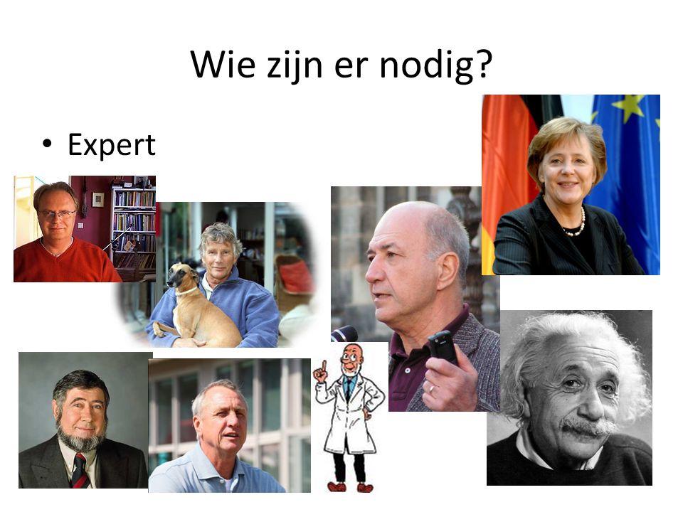 Wie zijn er nodig Expert