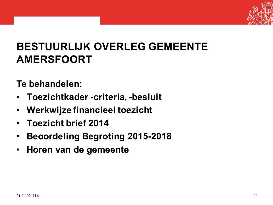 Bestuurlijk overleg gemeente Amersfoort