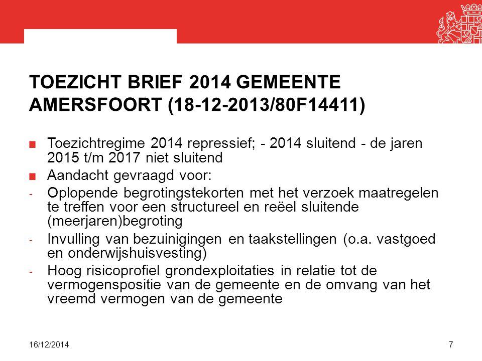 Toezicht brief 2014 gemeente Amersfoort (18-12-2013/80F14411)