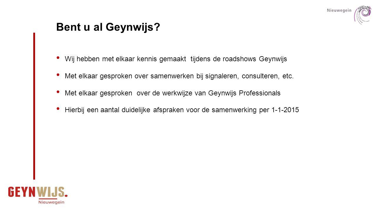 logo Geynwijs Bent u al Geynwijs Wij hebben met elkaar kennis gemaakt tijdens de roadshows Geynwijs.