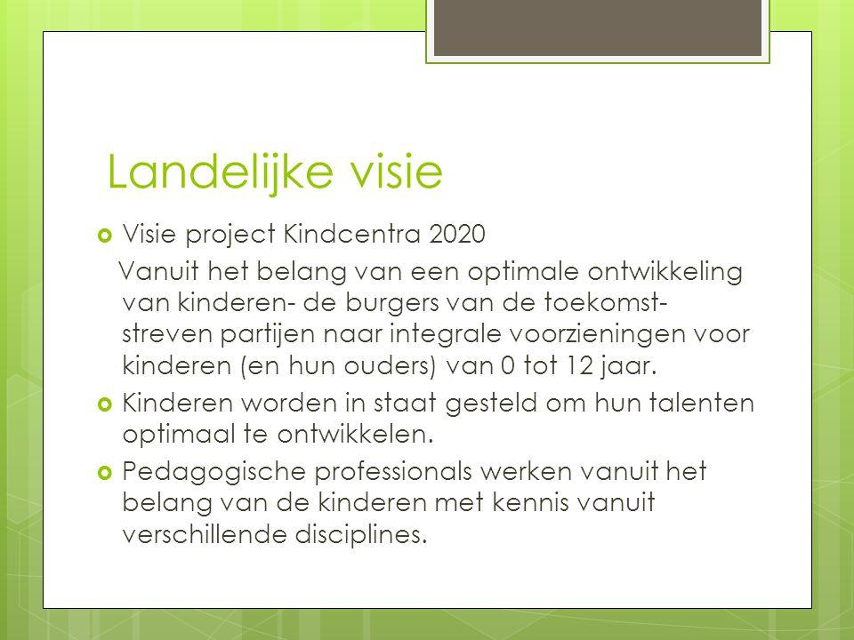 Landelijke visie Visie project Kindcentra 2020