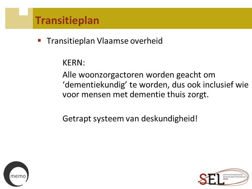 Transitieplan Transitieplan Vlaamse overheid KERN: