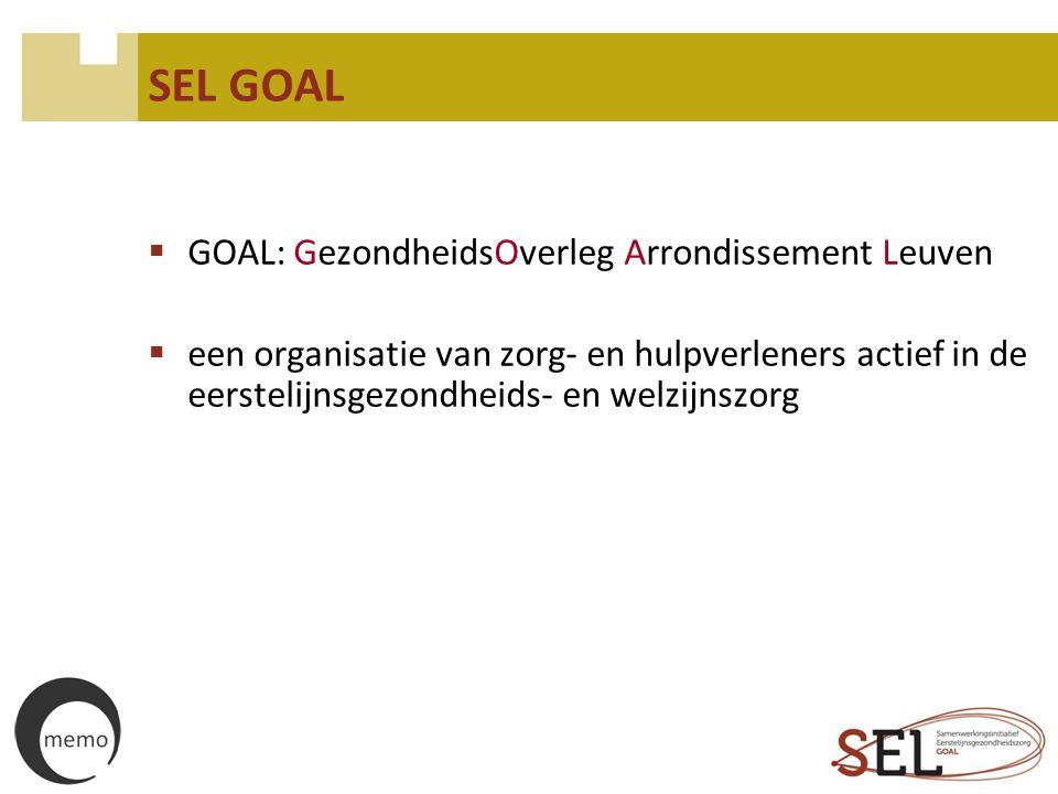 SEL GOAL GOAL: GezondheidsOverleg Arrondissement Leuven