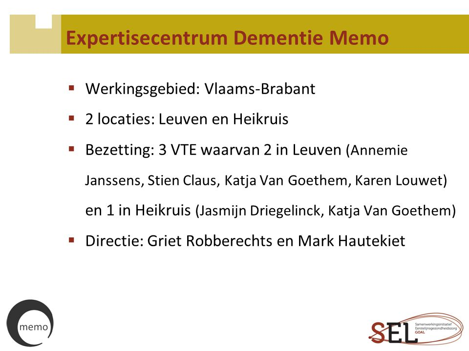 Expertisecentrum Dementie Memo