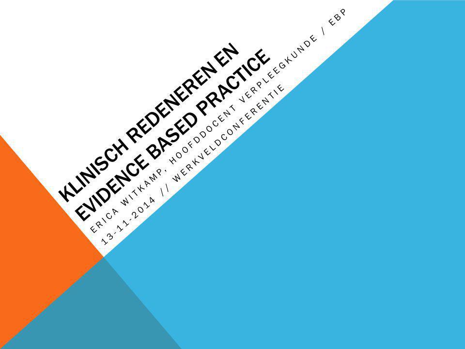 Klinisch redeneren en evidence based practice
