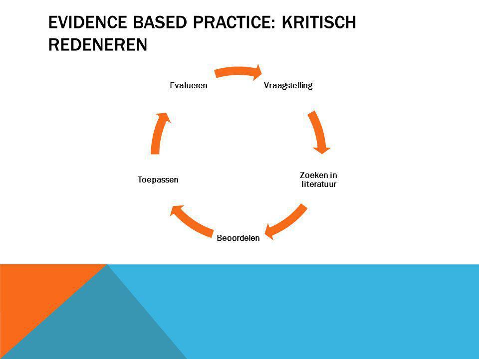 Evidence based practice: kritisch redeneren