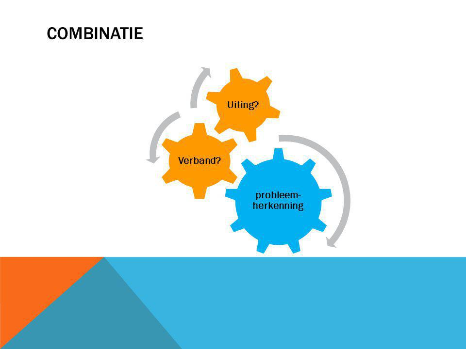 Combinatie probleem-herkenning Verband Uiting