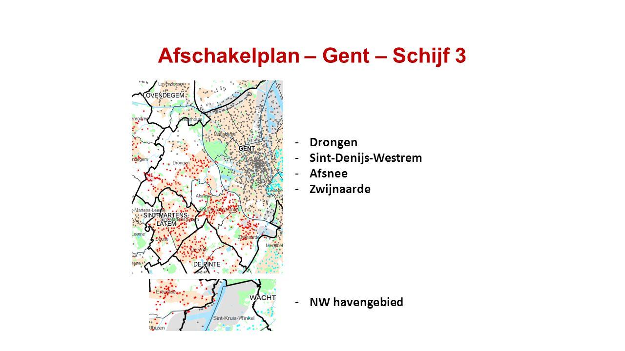 Afschakelplan – Gent – Schijf 3