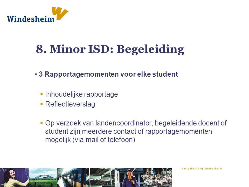 8. Minor ISD: Begeleiding