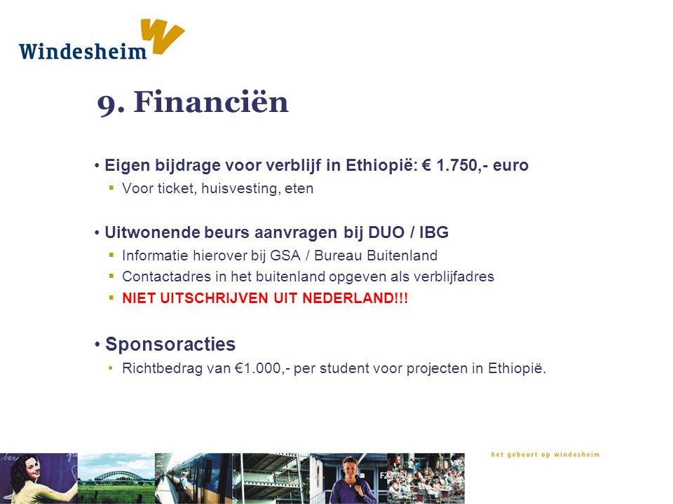 9. Financiën Sponsoracties