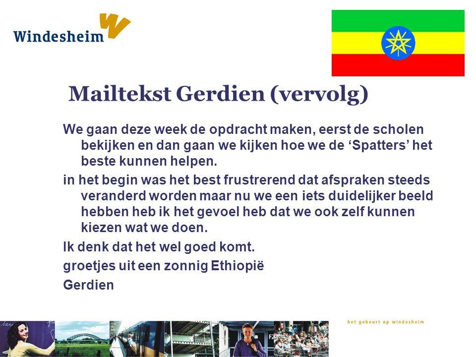 Mailtekst Gerdien (vervolg)