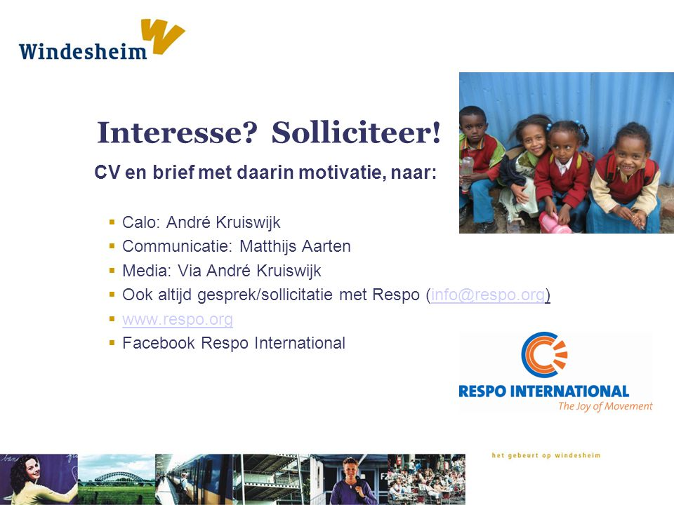 Interesse Solliciteer!