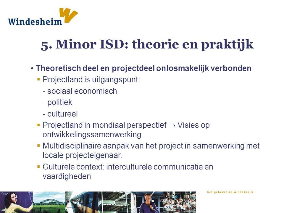 5. Minor ISD: theorie en praktijk