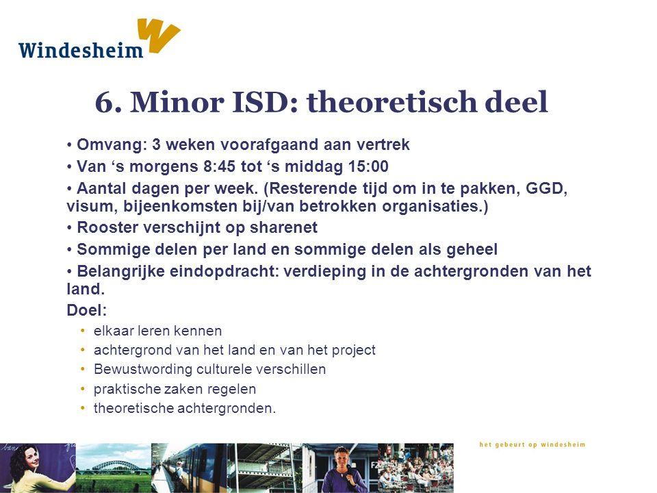 6. Minor ISD: theoretisch deel