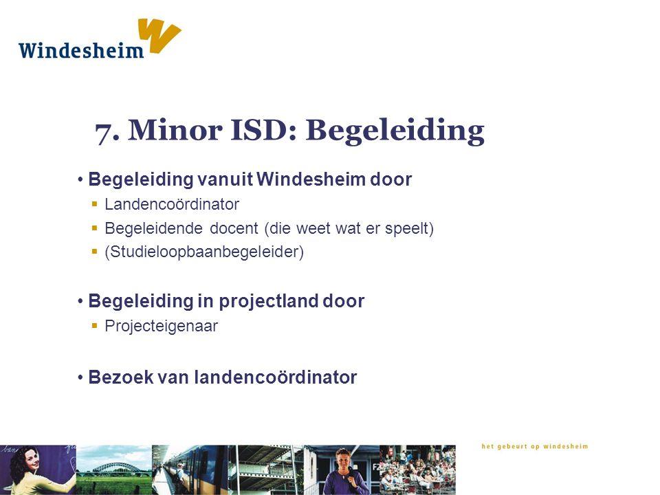 7. Minor ISD: Begeleiding