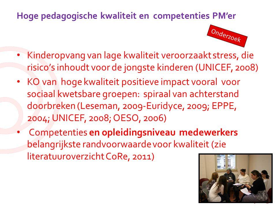 Hoge pedagogische kwaliteit en competenties PM'er