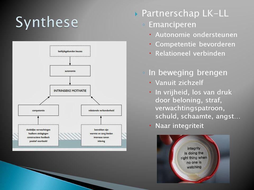 Synthese Partnerschap LK-LL Emanciperen In beweging brengen
