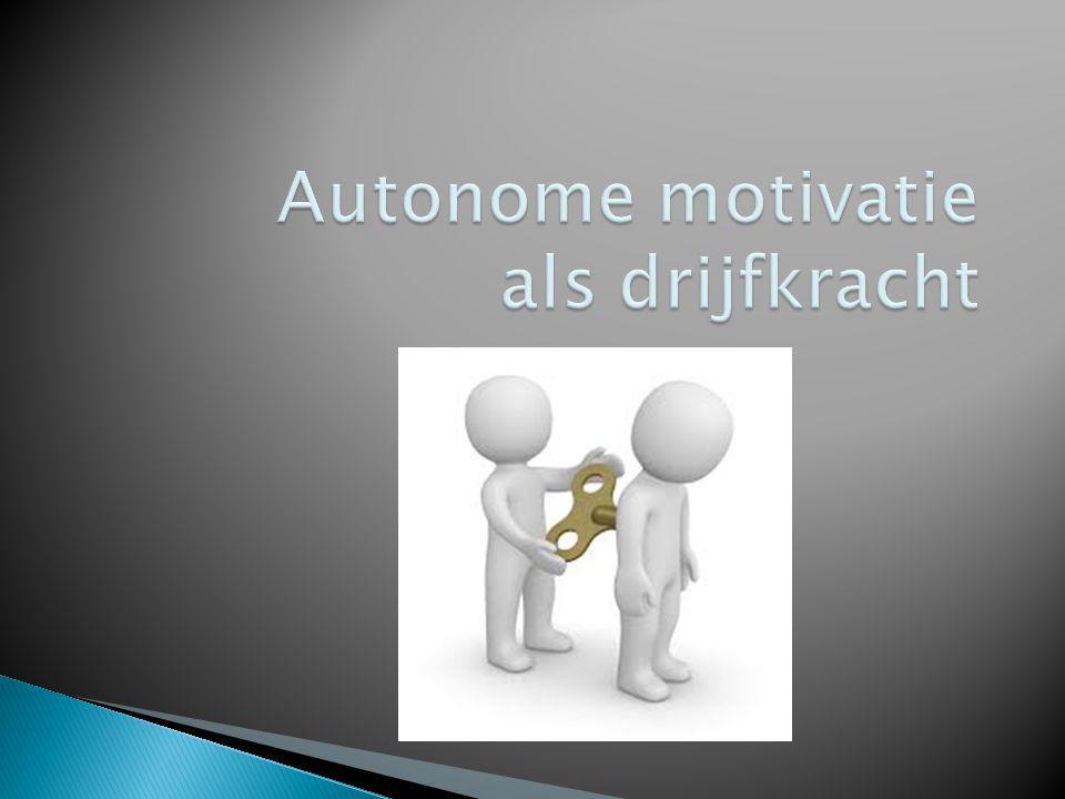 Autonome motivatie als drijfkracht