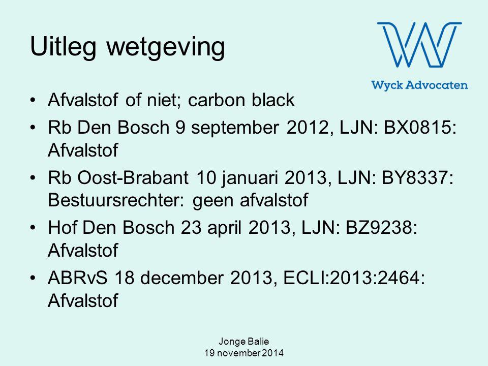 Uitleg wetgeving Afvalstof of niet; carbon black