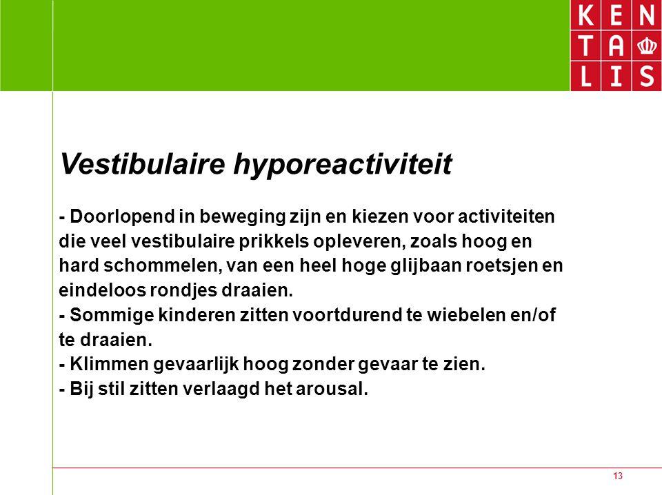 Vestibulaire hyporeactiviteit