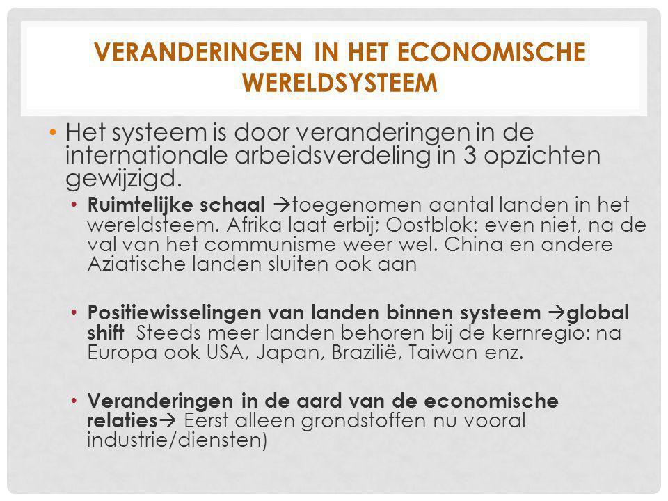 Veranderingen in het economische wereldsysteem