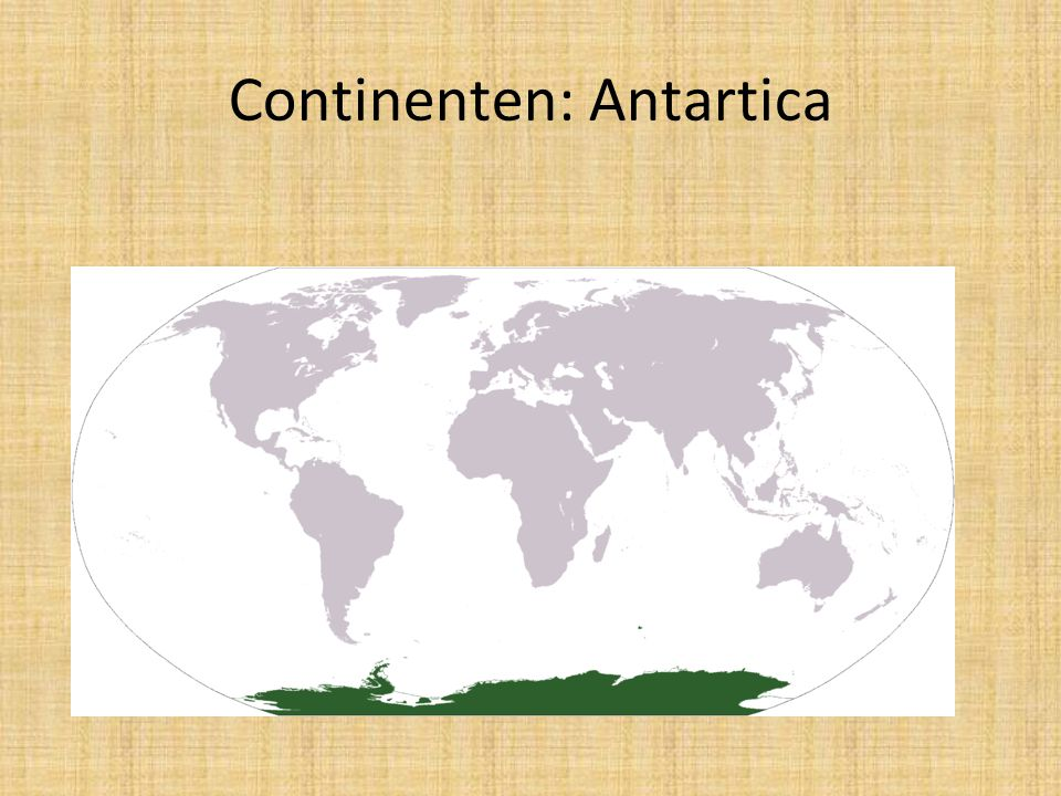 Continenten: Antartica