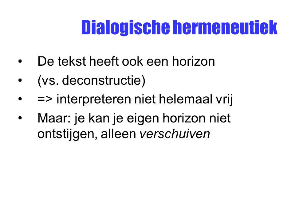 Dialogische hermeneutiek