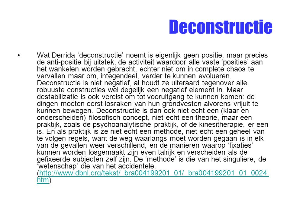 Deconstructie
