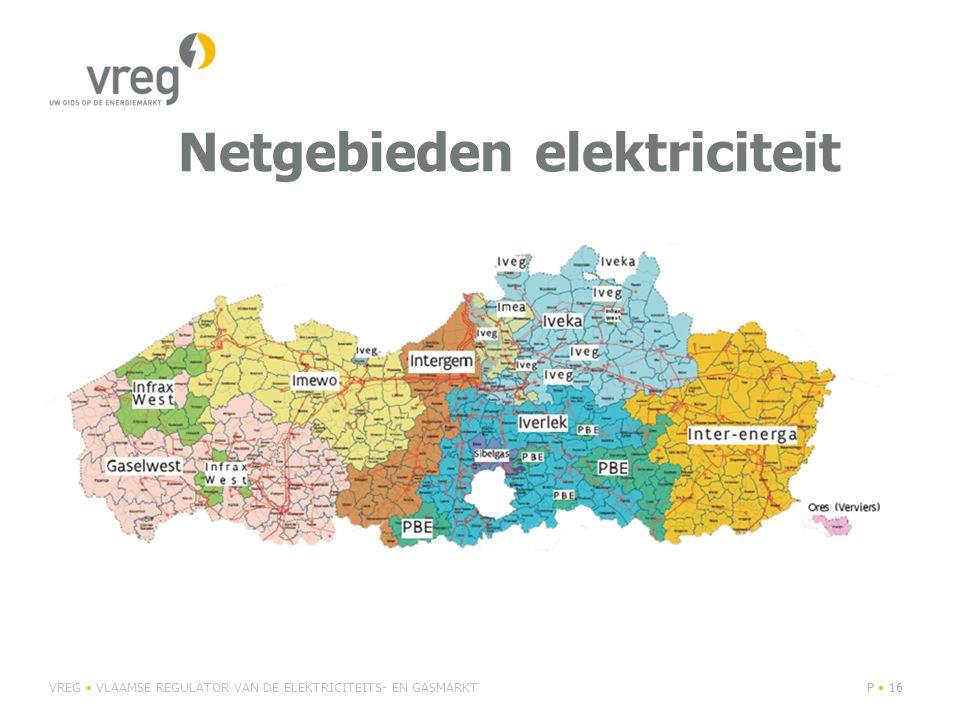 Netgebieden elektriciteit
